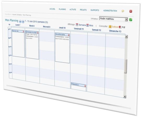 D couvrez tous les logiciels de gestion des temps meliat for Logiciel plannification
